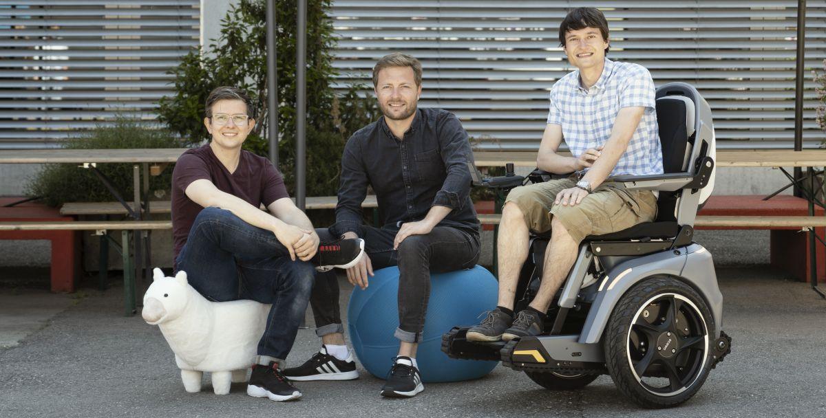 Scewo Gründer Bernhard Winter, Thomas Gemperle und Pascal Buholzer (von links)
