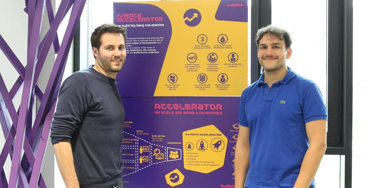 Benjamin Simona (CEO) and Vincent Milleret (CTO)