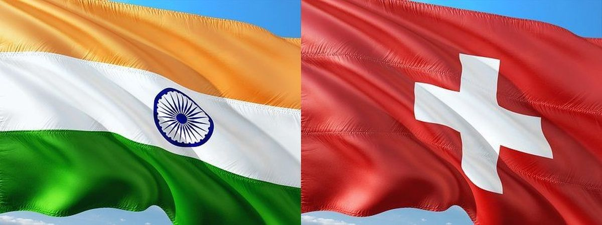 Indian and Swiss flags