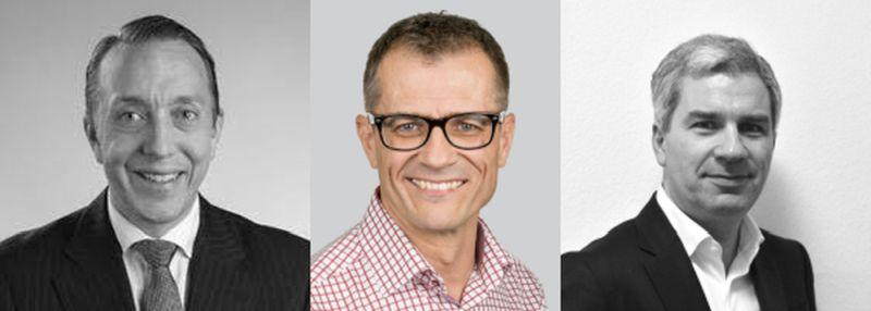 Matthias Werder, Harald Wojnowski und Hakan Yuksel