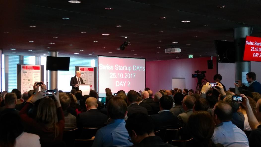 Johann Schneider-Ammann at Swiss Startup Days