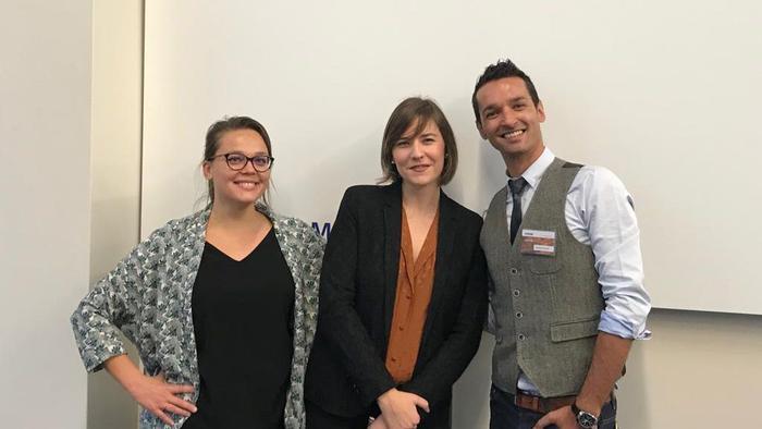 Delphine Seitiée, Sandrine Barrucand, et Yohann Perron (de gauche à droite)