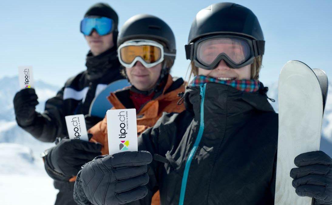 tipo Ticket Skifahrer