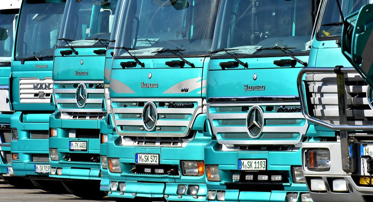 Lastwagenflotte
