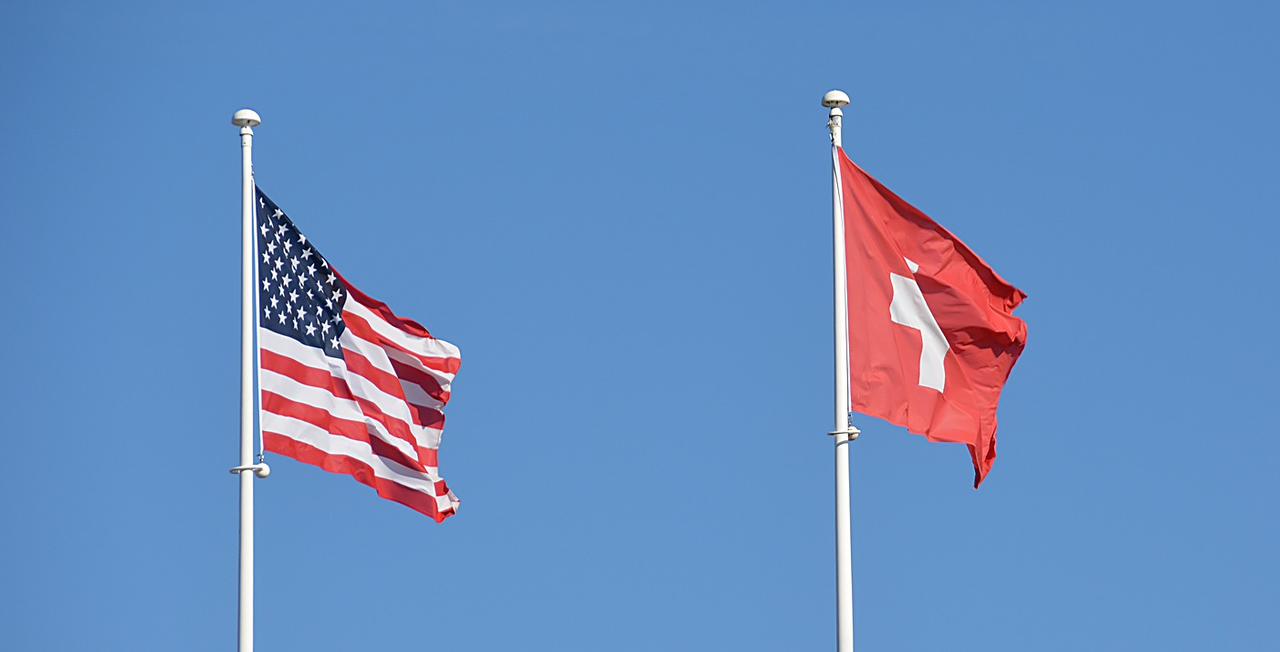 US and Swiss flag